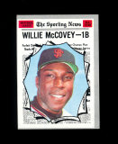 1970 Topps All-Star Baseball Card #450 Hall of Famer Willie McCovey San Fra