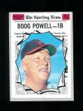 1970 Topps All-Star Baseball Card #451 Boog Powell Baltimore Orioles. EX-MT