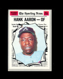 1970 Topps All-Star Baseball Card #462 Hall of Famer Hank Aaron Atlanta Bra