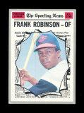 1970 Topps All-Star Baseball Card #463 Hall of Famer Frank Robinson Baltimo