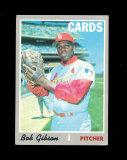 1970 Topps Baseball Card #530 Hall of Famer Robert Gibson St Louis Cardinal