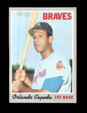 1970 Topps Baseball Card #555 Hall of Famer Orlando Cepeda Atlanta Braves.