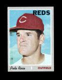 1970 Topps Baseball Card #580 Pete Rose Cincinnati Reds EX to EX-MT Conditi