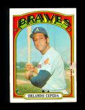 1972 Topps Baseball Card #195 Hall of Famer Orlando Cepeda Atlanta Braves.E