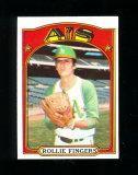 1972 Topps Baseball Card #241 Hall of Famer Rollie Fingers Oakland As. EX-M