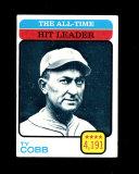1973 Topps Baseball Card #471 Hall of Famer Ty Cobb All-Time Hits Leader. E