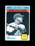 1973 Topps Baseball Card #472 Hall of Famer Lou Gehrig All-Time Grand Slam
