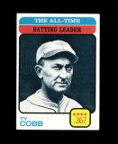 1973 Topps Baseball Card #475 Hall of Famer Ty Cobb All-Time Batting Leader