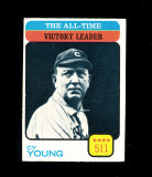 1973 Topps Baseball Card #477 Hall of Famer Cy Young All-Time Victory Leade