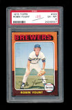 1975 Topps ROOKIE Baseball Card #223 Rookie Hall of Famer Robin Yount Milwa