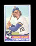 1976 Topps Baseball Card #316 Hall of Famer Robin Yount Milwaukee Brewers.