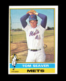 1976 Topps Baseball Card #600 Hall of Famer Tom Seaver New York Mets. EX-MT
