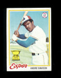 1978 Topps Baseball Card #72 Hall of Famer Andre Dawson Monteal Expos. EX-M