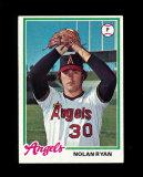 1978 Topps Baseball Card #400 Hall of Famer Nolan Ryan California Angels. N