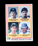 1978 Topps ROOKIE Baseball Card #707 Rookie Hall of Famers Paul Molitor Mil