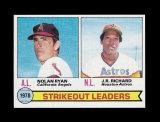 1979 Topps Baseball Card #6 Strikeout Leaders in 1878 Ryan and Ricardo. NM