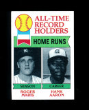 1979 Topps Baseball Card #413 All-Time Home Run Leaders Maris and Aaron. NM