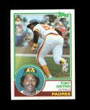 1983 Topps ROOKIE Baseball Card #482 Rookie Hall of Famer Tony Gwynn San Di