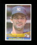 1984 Donruss ROOKIE Baseball Card #248 Rookie Hall of Fame. Don Mattingly N