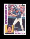 1984 Topps Baseball Card #596 Hall of Famer Ryne Sandberg Chicgo Cubs. NM t