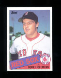 1985 Topps ROOKIE Baseball Card #181 Rookie Roger Clemens Boston Red Sox. N