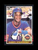 1985 Donruss Baseball Card #312 Darryl Strawberry New York Mets. NM to NM-M