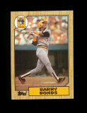 1987 Topps ROOKIE Baseball Card #320 Rookie Barry Bonds Pittsburgh Pirates.