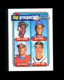 1992 Topps Top Prospects Baseball Card Alexander, Arias, Cordero, Jones. MT