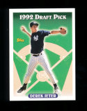 1992 Topps ROOKIE Baseball Card Rookie Derek Jeter New York Yankees