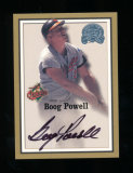 2000 Fleer Skybox Auographed Baseball Card with the card its self as Certif