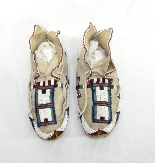 Pair Of Vintage Naitive American Indian Moccasins Great Condition Almost Li