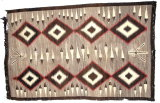 Vintage Original Southwest (Navajo?) Native American Rug/Blanket/Weaving. V