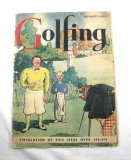 1934 August Golfing Magazine A Bit Tattered Lots Of Old Golf Advertising.