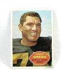 1960 Football rookie Card # 56 Forrest Gregg.