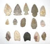 (15) Vintage Original Stone ArrowHead/Points