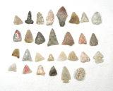 (30) Smaller Vintage Original Stone ArrowHead/Points
