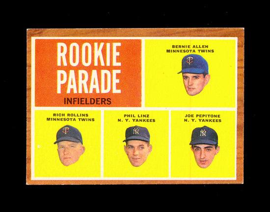 1962 Topps Baseball Card 596 Rookie Parade Infielders Joe