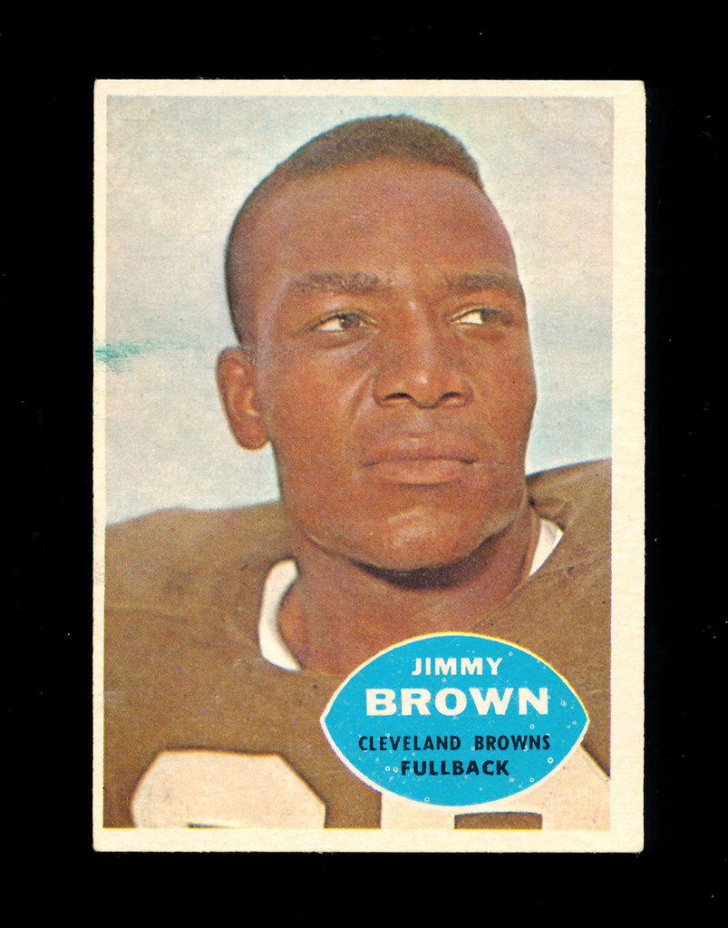 1960 Topps Football Card #23 Hall of Famer Jim Brown Cleveland Browns. EX t