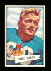 1952 Bowman Large Football Card #52 James Martin Detroit Lions. EX to EX-MT