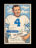 1952 Bowman Large Football Card #77 Dan Edwards Dallas Texans. EX to EX-MT+