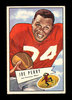 1952 Bowman Large Football Card #83 Hall Famer Joe Perry San Francisco 49er