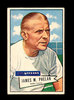 1952 Bowman Large Football Card #122 James Phelan COACH Dallas Texans. EX t
