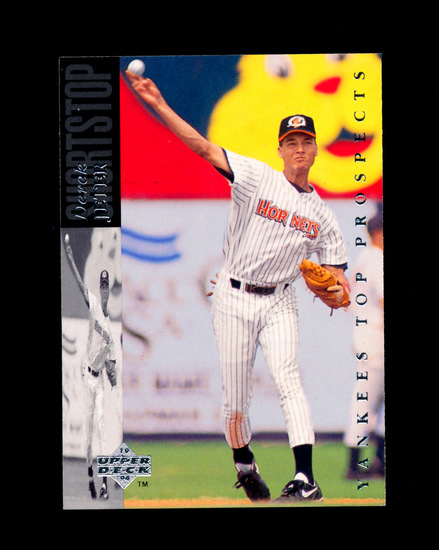 1993 Upper Deck ROOKIE Baseball Card Rookie Derek Jeter New York Yankees. N
