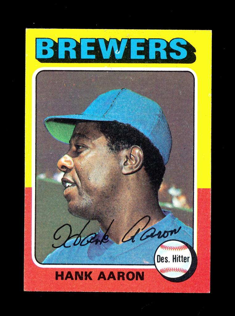 1975 Topps Baseball Card 660 Hall Of Famer Hank Aaron