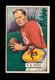 1951 Bowman Football Card #32 Hall of Famer Y.A. Tittle San Francisco 49ers