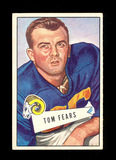 1952 Bowman Large Football Card #13 Hall of Famer Tom Fears Los Angeles Ram