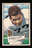 1952 Bowman Large Football Card #76 Herman Clark Chicago Bears.  EX to EX-M