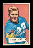 1952 Bowman Large Football Card #78 Hall of Famer Bobby Layne Detroit Lions