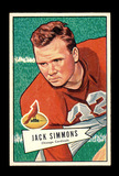 1952 Bowman Large Football Card #110 John Simmons Chicago Cardinals.  EX-MT