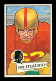 1952 Bowman Large Football Card #112 John Badaczewski Washington Redskins.